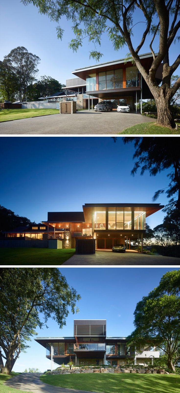 This contemporary home in queensland australia sits at the top of a 33000 sqm