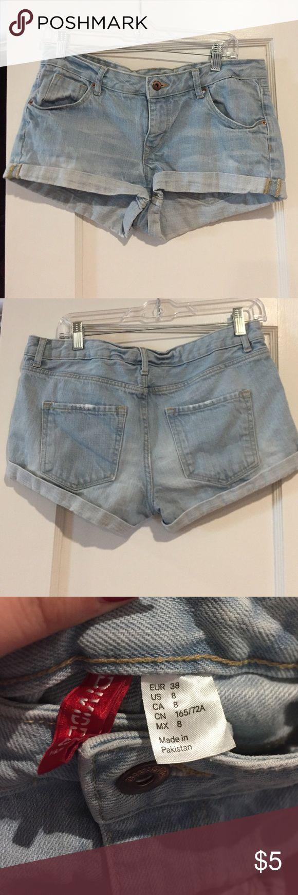 Light denim blue jean shorts Light blue denim blue jean shorts Shorts