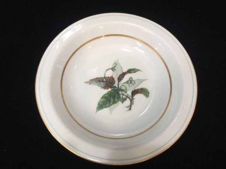 "Vintage Imperial Craftsman Japan Porcelain China Begonia Soup Bowl, 7 7/8"" Dia #ImperialCraftsman"