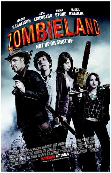 Zombieland Nut Up or Shurt Up Woody Harrelson Movie Poster 11x17