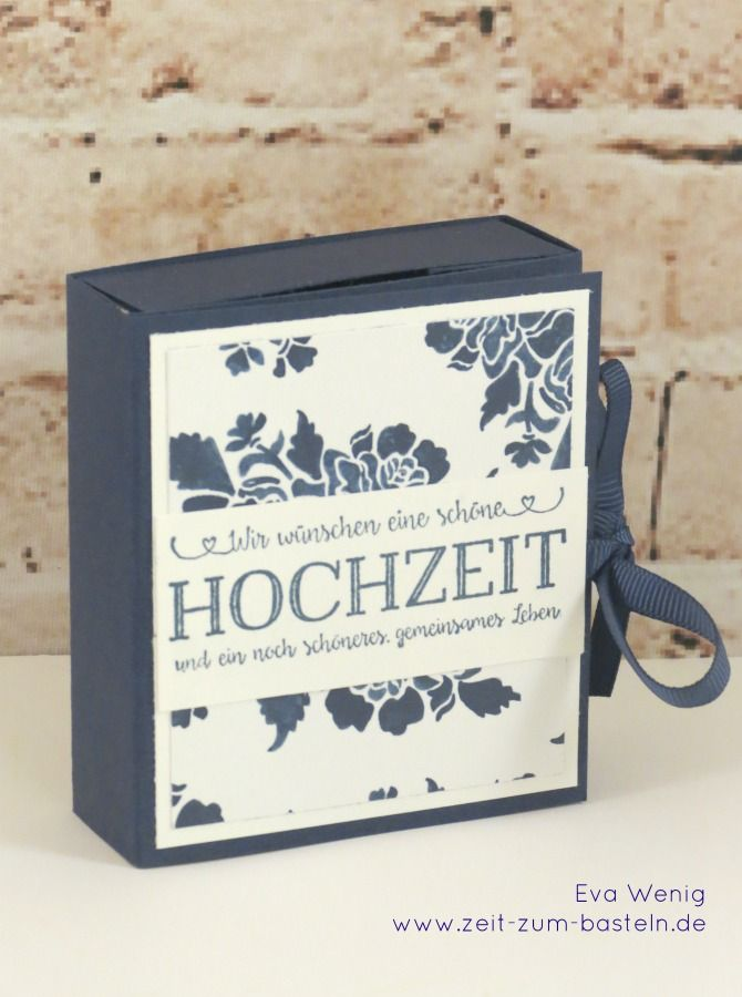 Geldgeschenk Karte Hochzeit Basteln.Two In One Karte Box Zur Hochzeit Stampin Up