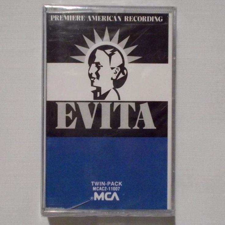 Evita Musical Cassette Premiere American Recording Andrew Lloyd Weber Sealed #ShowVocals