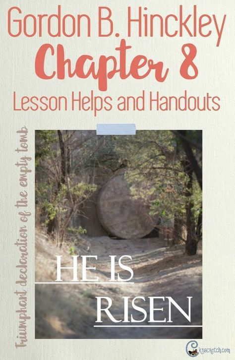 So many great resources and ideas to teach Gordon B. Hinckley Chapter 8: We Look to Christ
