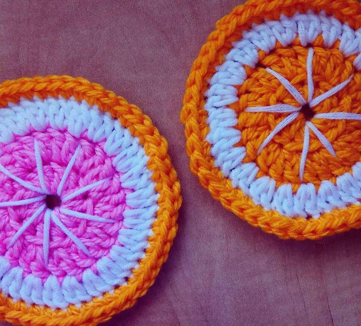 New crochet project - hot pads.  #hotpad #hotpads #crochet #easy #crochetideas #crochetidea #orange #redorange #stands #stand #orangestand #mugstand #crochetaddict #diy #doityourself #yarn