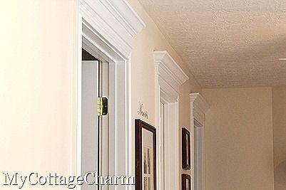 how to update your doors: Doors, Door Headers, Idea, Door Molding, Crown Molding, Door Frames