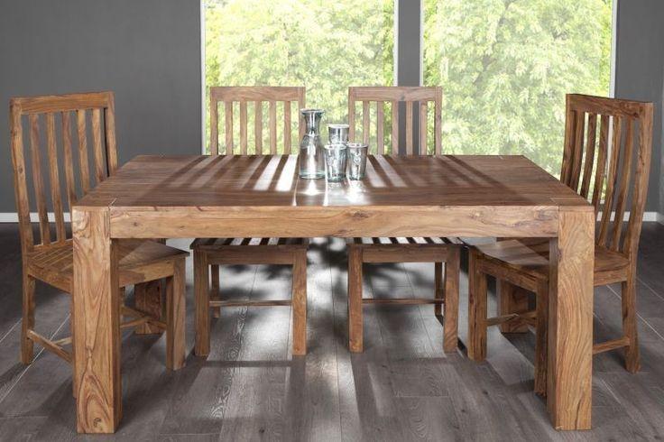 Drewniany stół z drewna palisandrowego