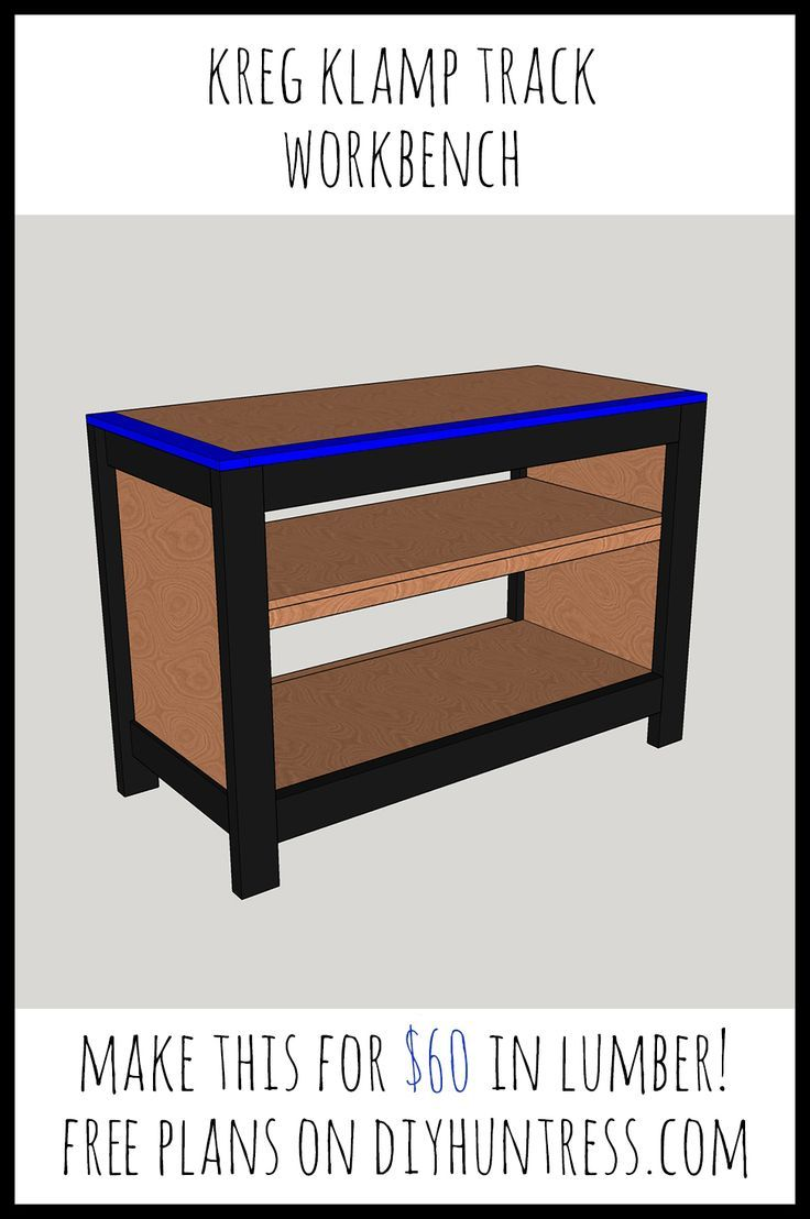 DIY Woodworking Ideas Create a workbench for $60 in lumber!