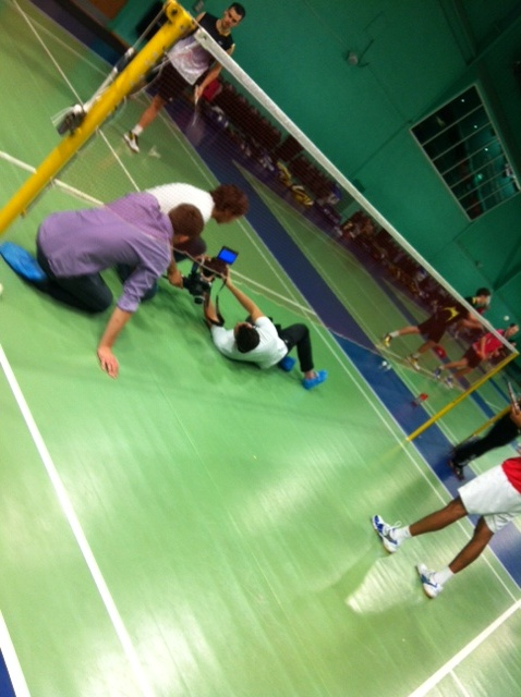 Exploring all angles on our shoot with GB Badminton