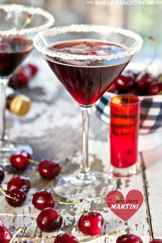 Very Cherry Martini: Tart Cherries, Recipe, Martinis, Tart Cherry Juice, Cherry Lover, Cherry Vodka