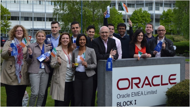 Earth Week 2013: some of the members of the Oracle Direct Team  are pictured here with their brand new Liquapod charity bottles! hey are now actively reducing their usage of disposable plastic bottles by refilling and reusing their Liquapod water bottles.