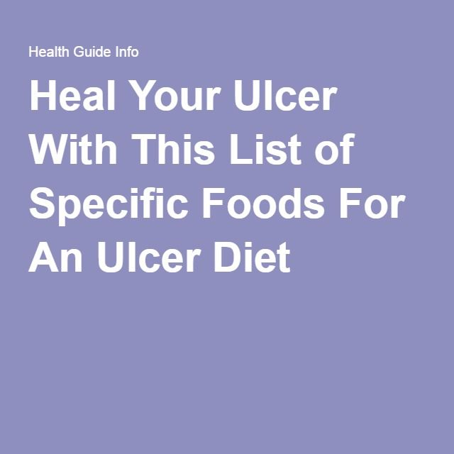 Heal Your Ulcer With This List of Specific Foods For An Ulcer Dietmizz vanity