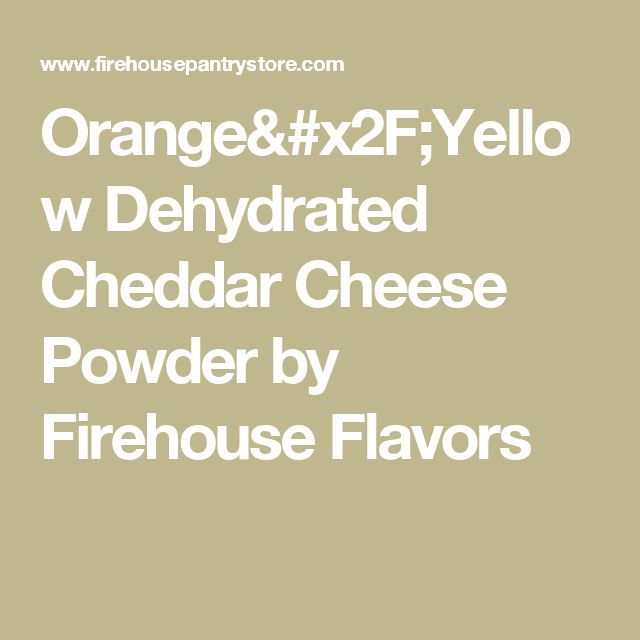 Orange/Yellow Dehydrated Cheddar Cheese Powder by Firehouse Flavors