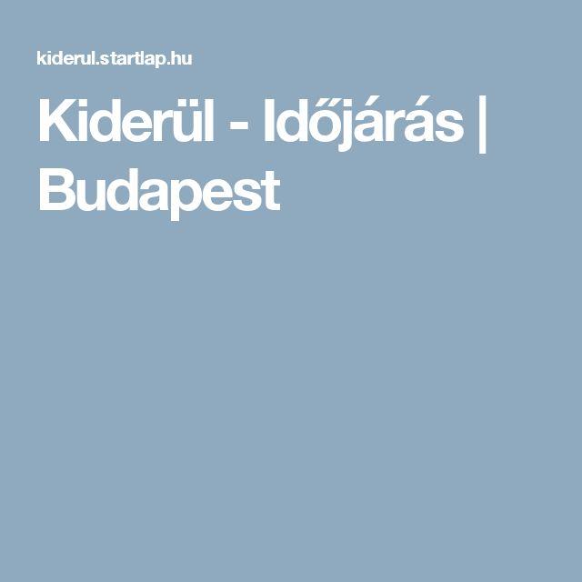 Kiderül - Időjárás | Budapest