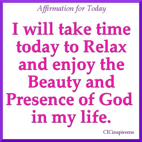 Affirmation for Today!