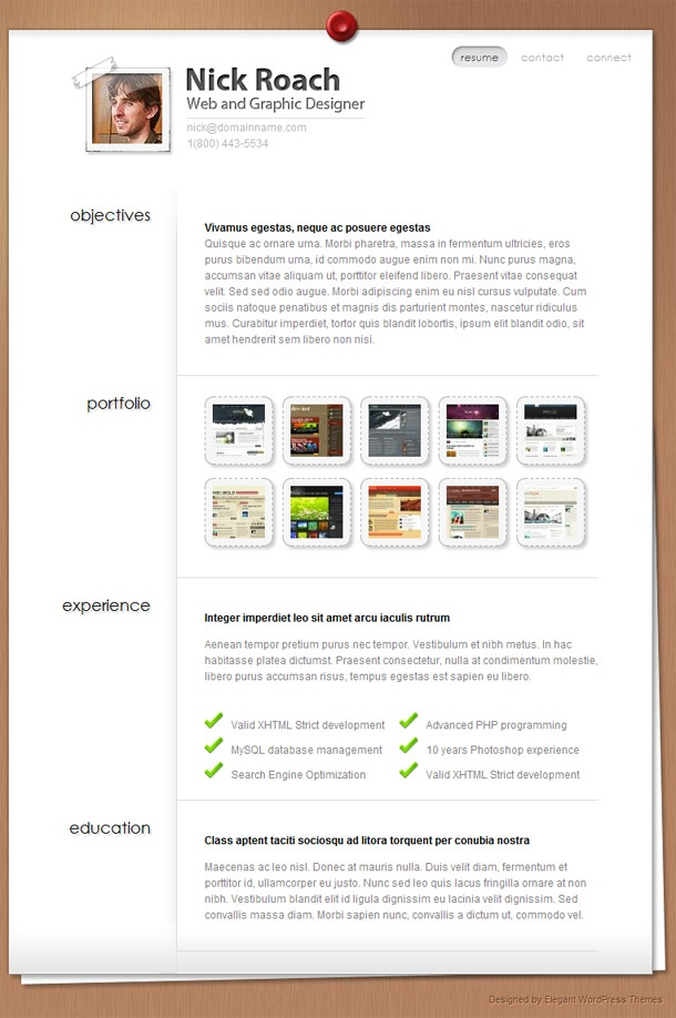 23 best Resume images on Pinterest Resume cv, Resume ideas and - wordpress resume template