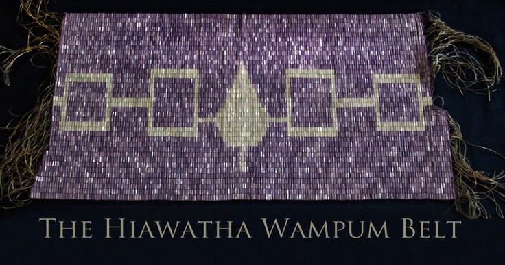 Our Belt The Aionwa Tha Hiawatha Wampum Belt