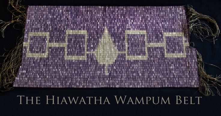 OUR BELT!! The Aionwá:tha (Hiawatha) Wampum Belt ...