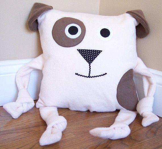 Dog Animal Pillow by My3SillyMonkeys on Etsy, $15.00