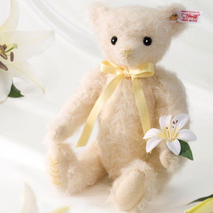 Steiff Teddy Bear Lilly Japan Limited model 1500 set only rare Free Shipping #Steiff
