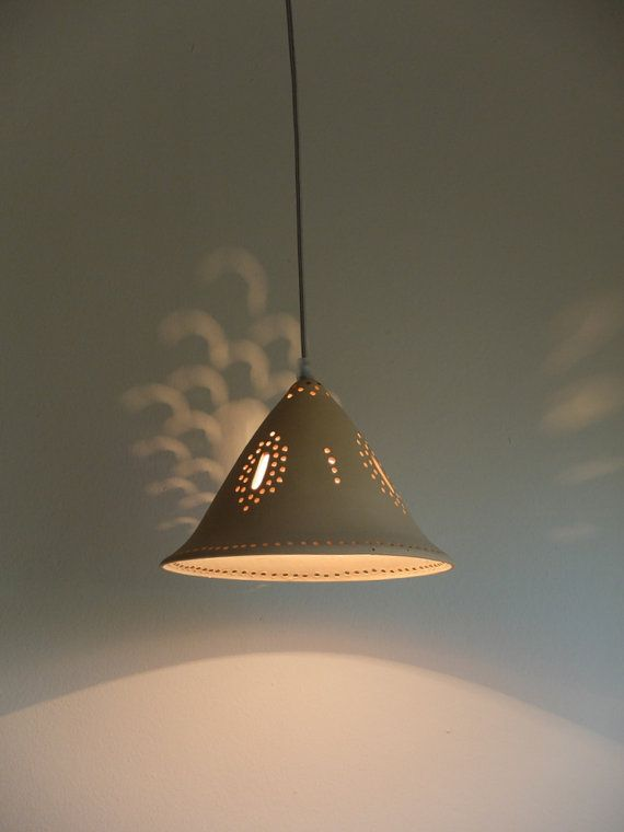 Sand color ceramic ceiling light cone shape lighting by Gallight