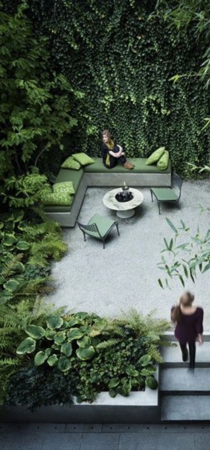 green and white landscaping