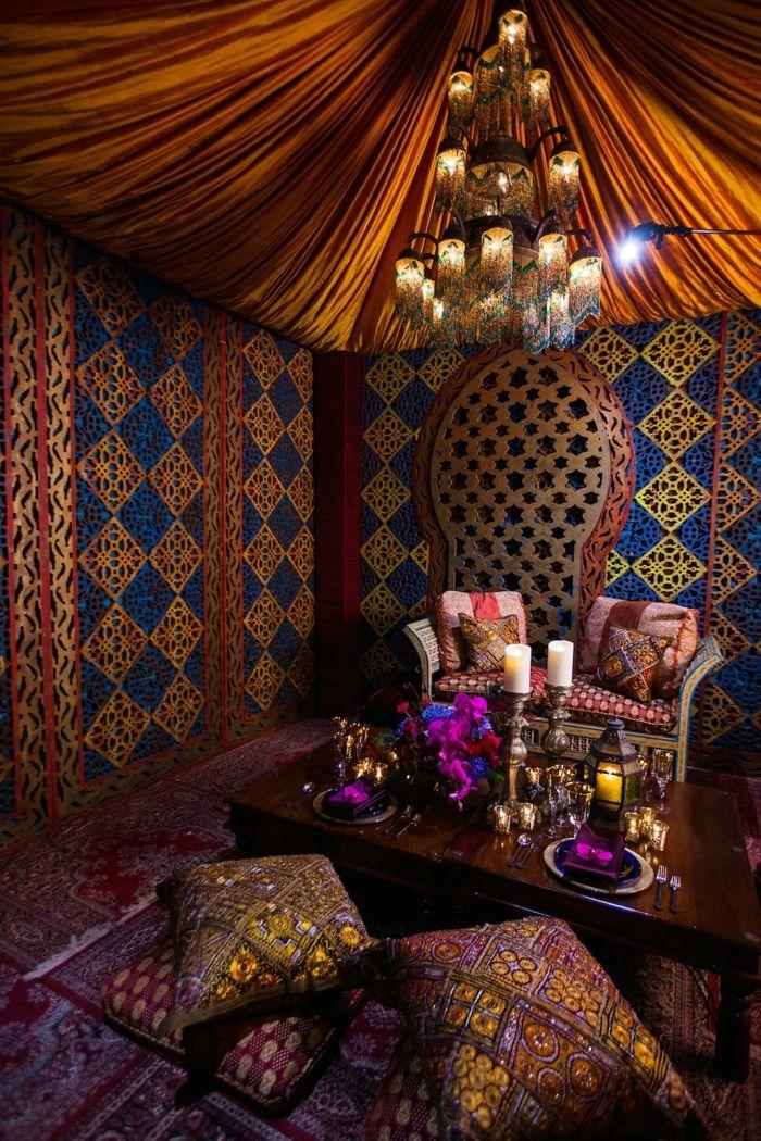 1001 Einrichtungs Und Gestaltungsideen Fur Orientalische Sitzecke Orientalische Sitzecke Arabisches Dekor Marokkanische Inneneinrichtung