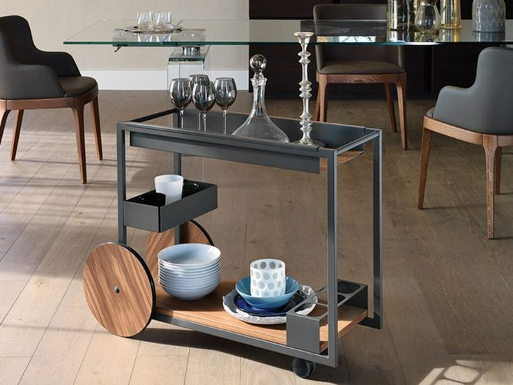 Carrello bar in acciaio BRANDY by Cattelan Italia design Studio Kronos