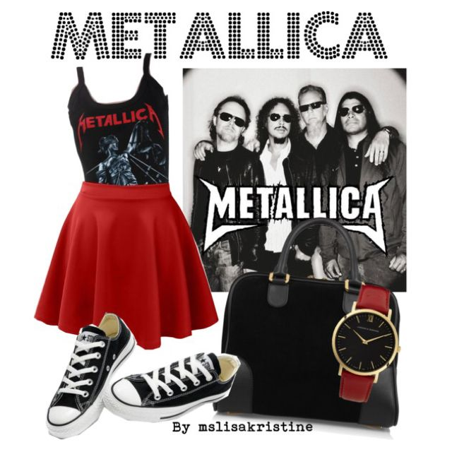 Metallica band tee outfit
