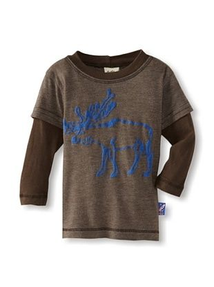 61% OFF Charlie Rocket Boy's Moose 2Fer Tee (Brown)