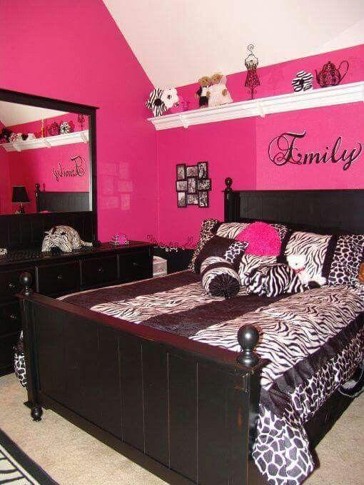 roze slaapkamer idee