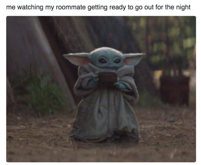 Baby Yoda Sipping Soup Memes Themandalorian Starwars Babyyoda Star Wars Memes Memes Yoda Wallpaper