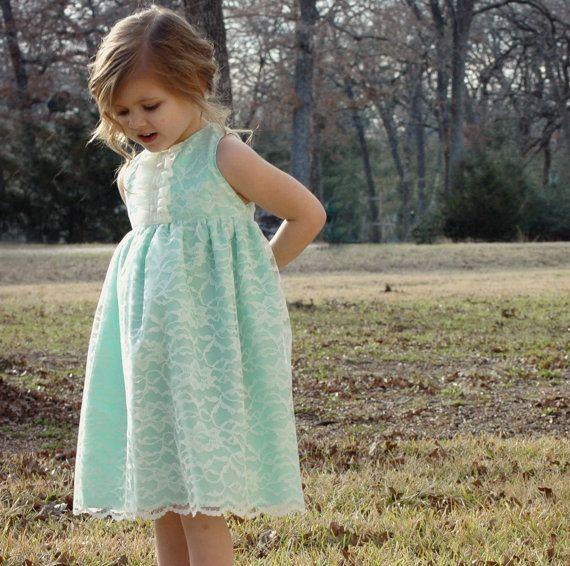 Girls Easter dress or flower girl dress by whatseweverdesigns