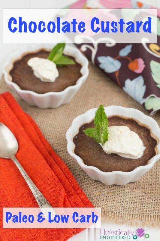 Chocolate Custard (Paleo or Low Carb)