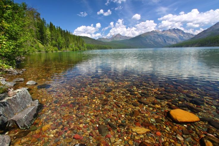 OMG ... This is the place in my dream...Pebble Shore Lake [Glacier National Park, Montana]