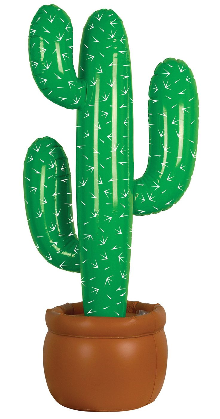 Don't get too close, or it just might prick ya! Our Inflatable Cactus is perfect for any westerner looking for that perfect themed piece! This inflatable cactus stands 35inH. PVC. Needs Inflated. Just