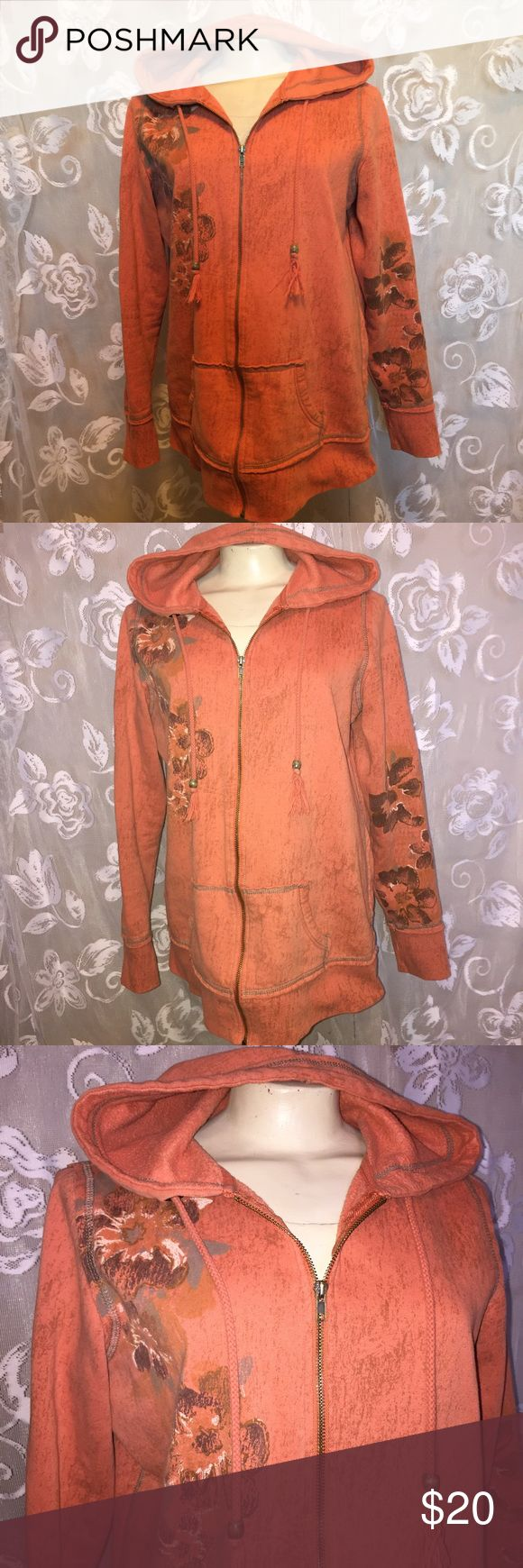 Maurices orange boho full zip hoodie sweatshirt Maurices women's plus size 0. Cute orange BoHo Bohemian full zip hoodie sweatshirt.   ~ I am open to reasonable offers. ~I do my best to describe each item thoroughly. If something is missed it is completely unintentional.  ~Be sure to check out my other listings for more great items & save on shipping! ~I ship same day or next day.  ~ I do not hold items.   ~Not responsible for incorrect sizing. I go by what the tag says its up to the buyer to…