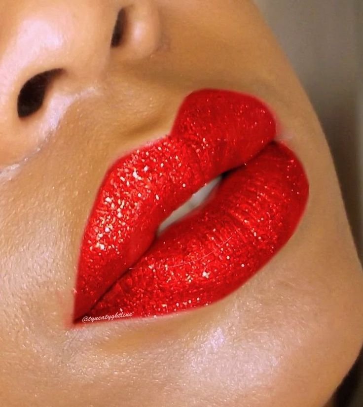 Ruby Red Sparkly #Lips