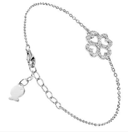 bracelet trèfle argent clio blue