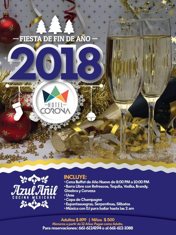 Conoce este paquete de Hotel Corona para festejar año nuevo en la bella ciudad de #Rosarito. 🎊🎉🎈 Festeja la bienvenida de este 2018 con tu familia y amigos de una manera inolvidable