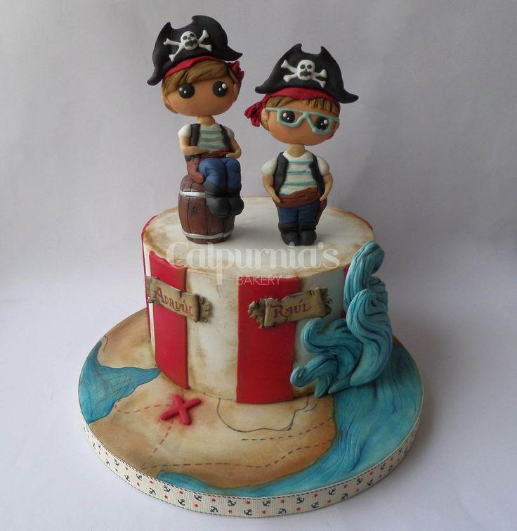Pirate cake fondant