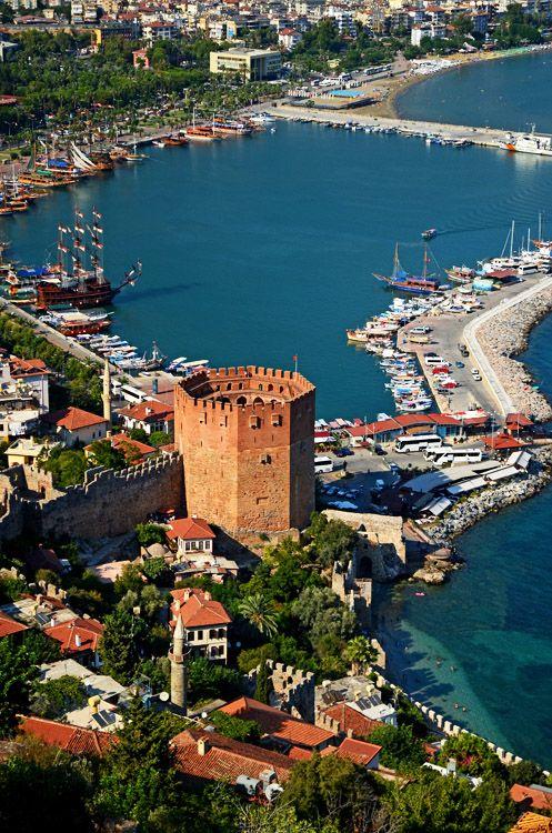 Kızıl Kule (Red Tower), Alanya, Turkey - ©Hakan Aydin - www.trekearth.com/gallery/Middle_East/Turkey////photo1381645.htm# 2011