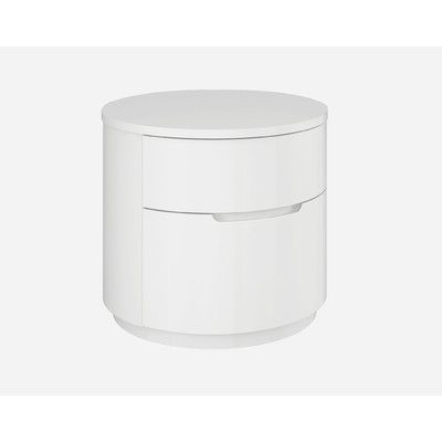 Moonlight 2 Drawer Nightstand Color: White - http://delanico.com/nightstands/moonlight-2-drawer-nightstand-color-white-608630171/
