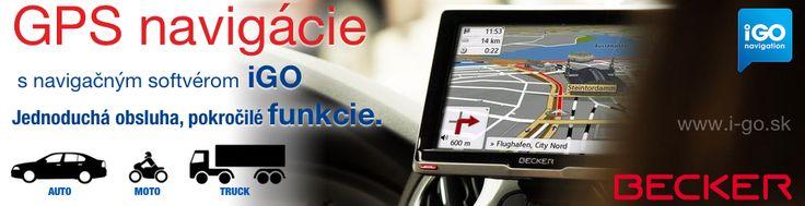 GPS navigácie Becker s iGO pre automobily, motocykle a nákladné autá (Truck)