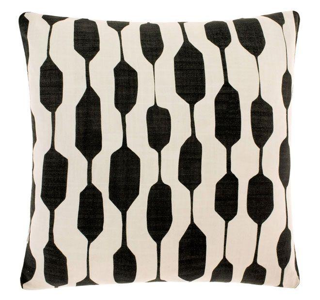 Linen House Lifestyle Ghana 40x40cm Filled Cushion Black