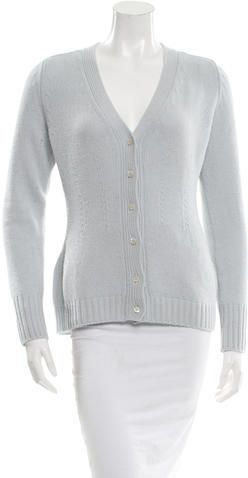Prada Wool V-Neck Cardigan