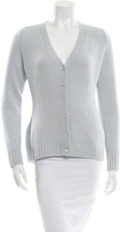 Prada Wool V-Neck Cardigan