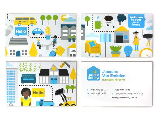 Prime Letting Business cards Design. www.room13.co.za