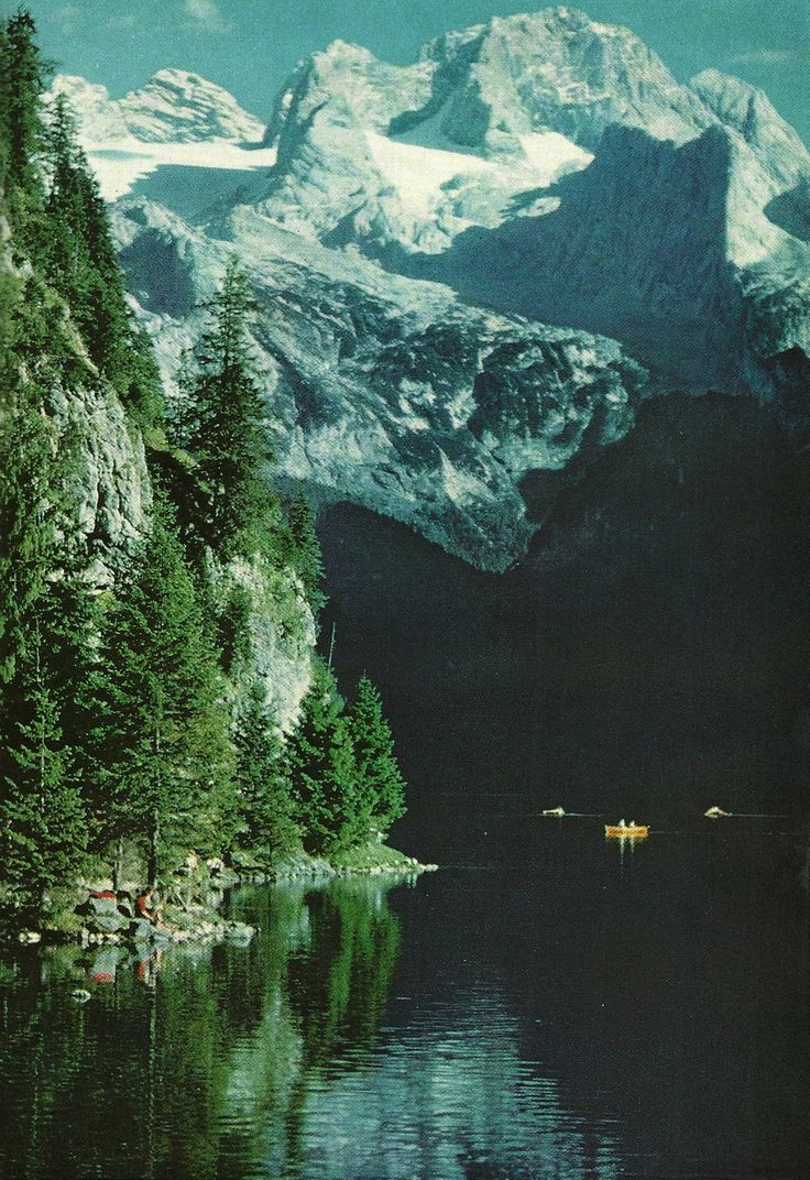 Lake below Dachstein Mountain, Austria National Geographic | August 1960