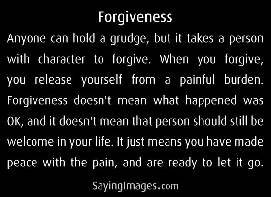 This is how I understand forgiveness!