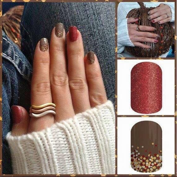 Jamberry Nails! #MaiTai paired with #AppleCider